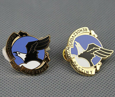 US RENDEZVOUS WITH DESTINY 101st Airborne Emblem BADGE SIGNS PIN