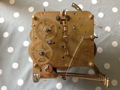 VINTAGE WESTMINSTER CHIME CLOCK MOVEMENT 11x11cm Plates UNTESTED