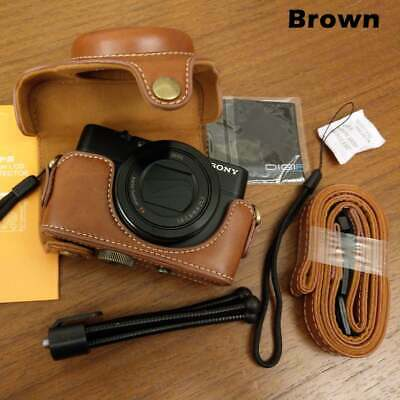Leather Camera Case with Should Strap Bag for Sony RX100 M2 M3 M4 M5 RX100 M6