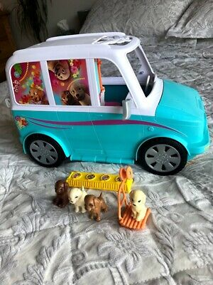 Barbie Ultimate Puppy Mobile, Jeep, Car, With 4 Puppies, Accessories, Playset.