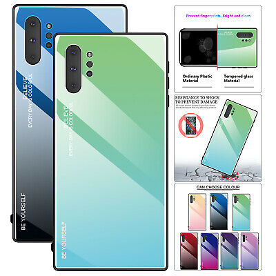 Luxury Case For Samsung Galaxy Note10 Pro Gradient Tempered Glass Hybrid Cover