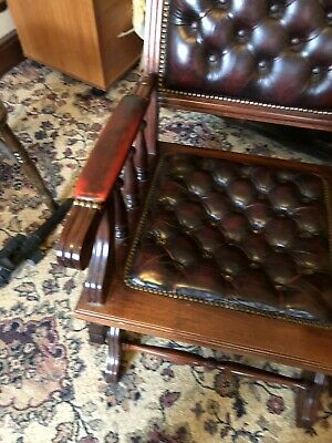 Chesterfield Leather Rocking Chair Reduced Delivery Available