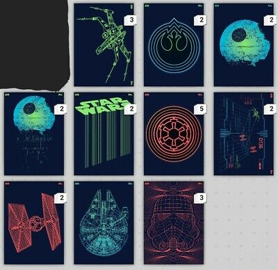 Topps Star Wars Card Trader Luminous Forces W1 10 cards Digital