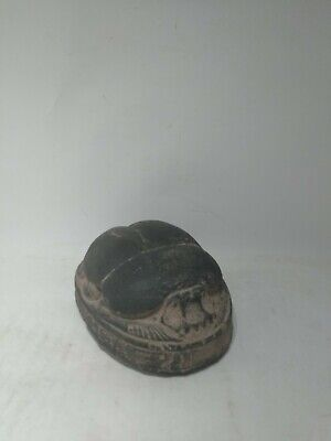 RARE ANCIENT EGYPTIAN ANTIQUE Scarab Carved Stone 1440-1245 Bc