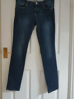 za10 MASSIMO DUTTI Corded Slim Fit Jeans in Black with Zip Detail L32