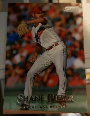 2019 Topps Stadium Club Shane Bieber (Justin on back) Cleveland Indians
