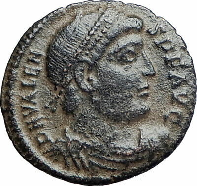 "VALENS ""Last True Roman"" 367AD Ancient Roman Coin Victory Nike Angel  i80230"