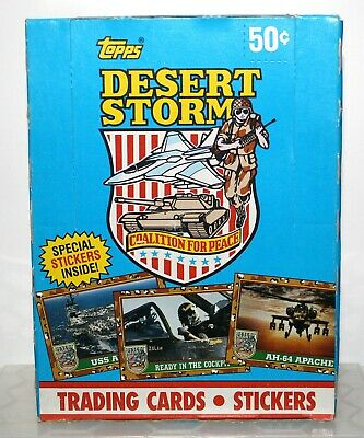 1991 TOPPS DESERT STORM~36 SEALED WAX PACKS Box ~TRADING CARDS & STICKERS! PSA