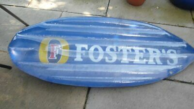 "Summer Hols ?? ""Fosters"" Shark Fin Inflatable Bodyboard 56"" by 22"". New."