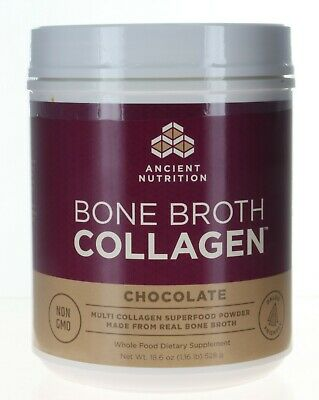Ancient Nutrition Bone Broth Collagen Powder 30 Servings CHOCOLATE (b69)