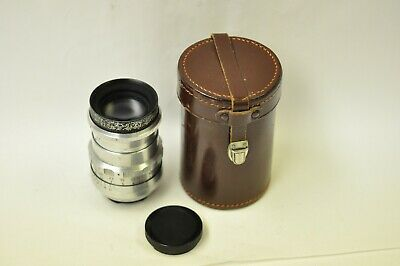 Meyer-Optik Gorlitz Trioplan 100mm f2.8 V telephoto lens red V clean optics