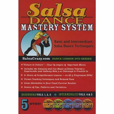 Salsa Crazy-The Complete Salsa Dance Mastery System, 5 DVD Package. Lear DVD NEW