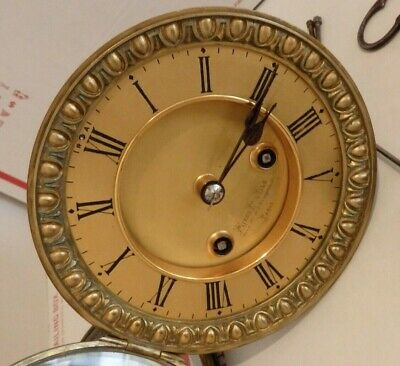 "Miroy Freres & Fils Antique 5 3/8"" Hole French Mantel Mantle Clock Movement"