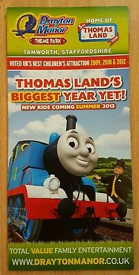 Drayton Manor 2013 Leaflet/Brochure, Theme Park, Staffordshire, NEW Winston Ride