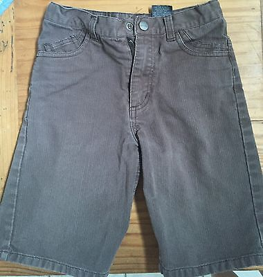 Kenneth Cole Reaction Pre-Owned Boys Shorts Brown Textured Denim Size 6