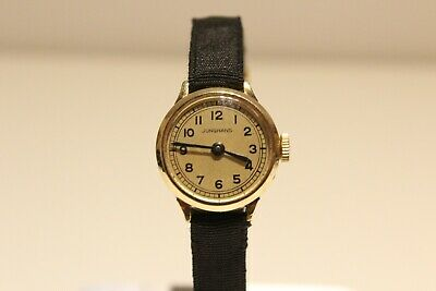 "Nos Art Deco Vintage Rare Gold Plated  Ladies Germany Watch ""Junghans"" /Cal.58"