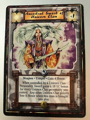 1995 Legend of the Five Rings L5R CCG Ancestral Sword of the Unicorn Clan IE New