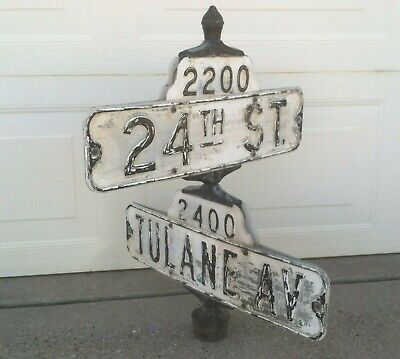 Vintage Lyle Double Bracket Street Sign Holder
