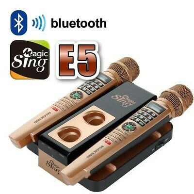 Magic Sing Karaoke E5 - Wireless Dual Microphone and Unlimited Songs