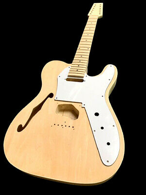 New 12 String Semi Hollow Tele Style Diy Electric Guitar Luthier Builder Kit