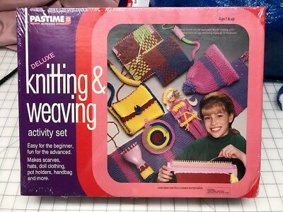 New Deluxe Knitting & Weaving Activity Set Pastime Activities craft