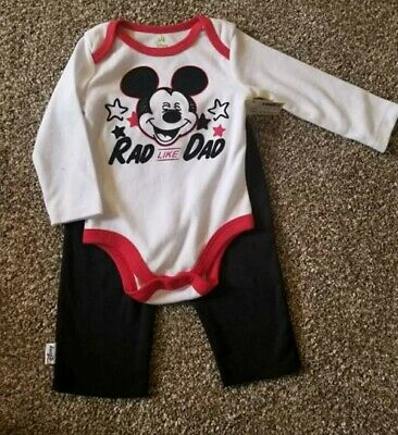 Baby Disney Mickey Mouse Outfit 3-6 Months