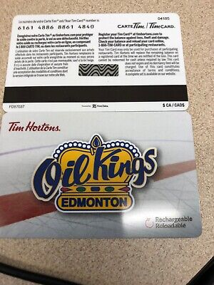 Tim Hortons 2018 Edmonton Oil Kings Fd57037 Gift Card No Value