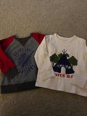 Children's Place Thermal Long Sleeve Shirt And Sweatshirt Lot Boys Size 3T 4T