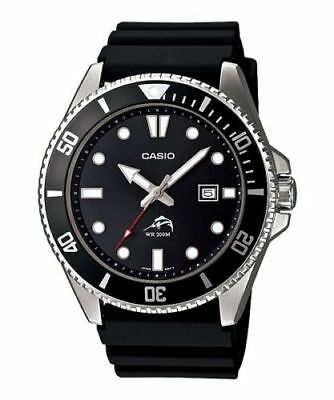Casio MDV106-1AV, Men's Black Resin Watch, 200 Meter WR,Date, Anti-Reverse Bezel