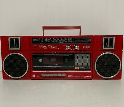 NATIONAL RX-C37 RED Stereo Retro Boombox Vintage Radio Cassette Recorder