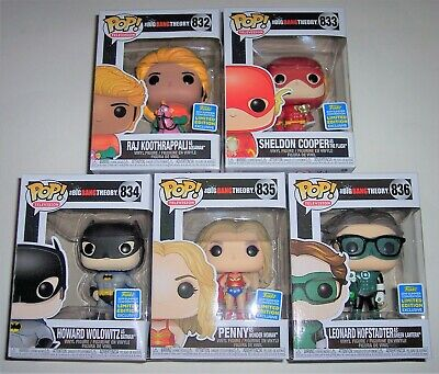 Funko POP Vinyl Big Bang Theory DC Costumes SDCC Exclusive Set of 5 832-836