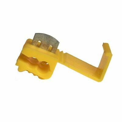 Pearl PWC1083 Self Stripping Tab Connectors 50 Pieces Yellow Electrical Spare