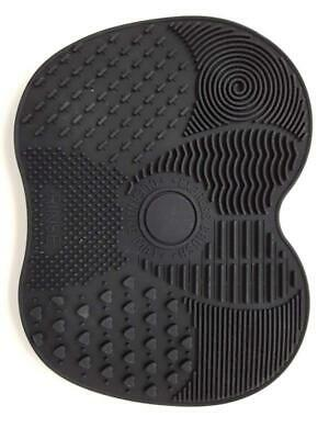 Makeup Brush Cleaner Mat, Make Up Cleaning, Silicone Pad (BLACK)