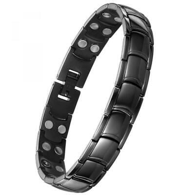 Jeracol Magnetic Therapy Bracelets for Men Arthritis Pain Relief with Double-Row