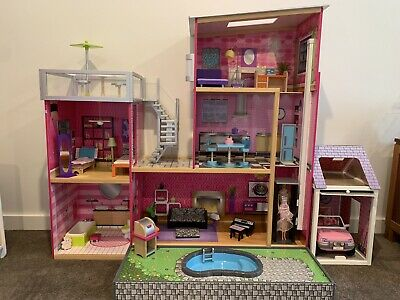 Doll House Barbie Dollhouse With Furniture