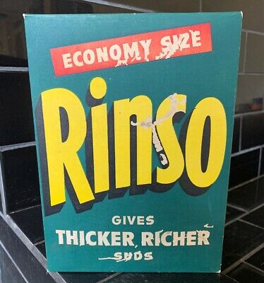 RINSO Laundry Washing Powder Vintage Packaging Box With Contents Full NOS