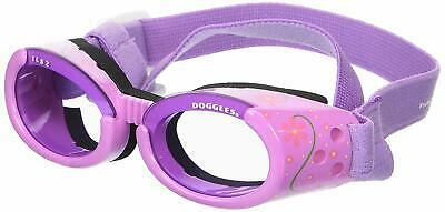 Doggles ILS Small Lilac Flower Frame with Purple Lens Dog Goggles - NEW