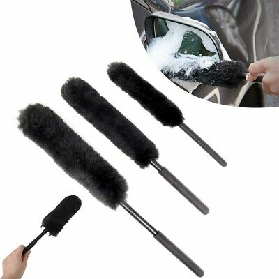 Pack of 3 Wheel Woolies | Car Alloy Cleaning Brushes Non - Scratch Protable