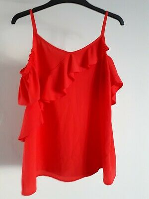 Girls Matalan red off the shoulder party top new with tags 15 years