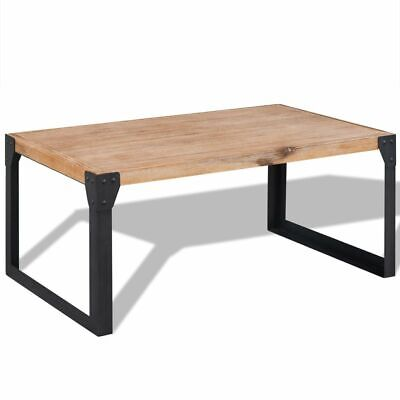 vidaXL Solid Acacia Wood Coffee Table 100x60x45cm Console Side Furniture Stand