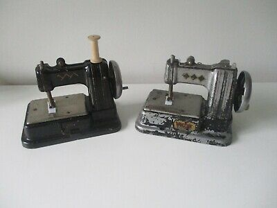 2 x Toy Child's sewing machine Vulcan black version one for spares / restoration