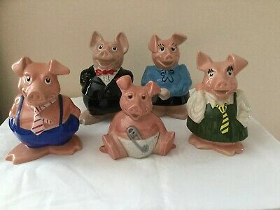 Wade natwest pigs Full Set Excellent Condition with original stoppers