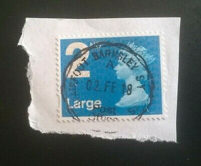 1 GB USED MACHIN 2nd CLASS LARGE LETTER 2014 SECURITY STAMP - M14L MAIL POSTMARK