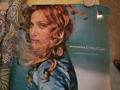 """Madonna Ray of Light promotional poster HUGE 48"""" x 48' 1998"""