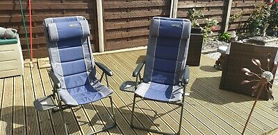 Eurotrail Terry Towelling Cotton Camping Chair Cover Universal Caravan Grey//Blue