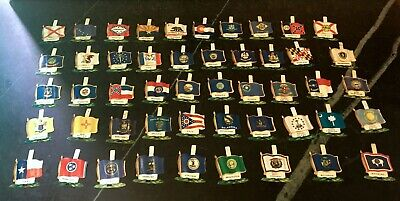 Nabisco Cereal Premiums ~ State Flags ~ Lot of 49 ~ Tin Litho ~ 1959