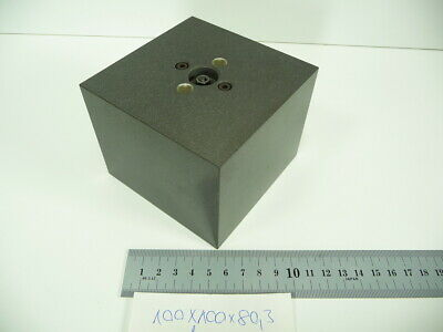 100x100x80mm 5 Sided Composite Cube  CMM Calibration or Taster(?) Toolmakers