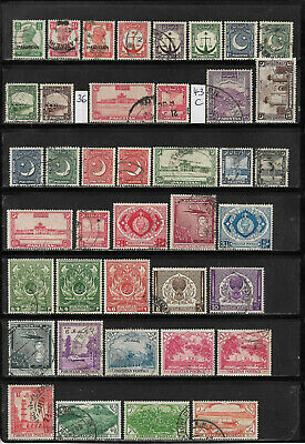 Pakistan, o/used Sammlung/Collection 1947-1990 + Dienstmarken/Service, 8 Scans!!