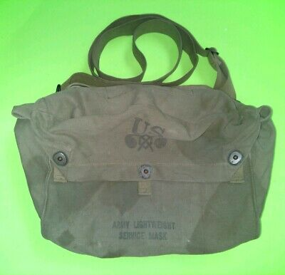 WW2 US M6 Army Lightweight Service Mask Bag Pouch OD M3 CHEMICAL CORPS(PreOwned)