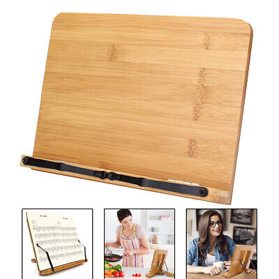 Portable Wooden Bookshelf Stand Bible Cookbook Music Book laptop Holder Folding